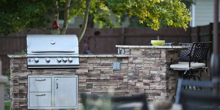 custom outdoor kitchen outdoor living r and t services billings custom grills